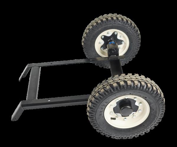 Compact axle with wheels - mala_naprava_79f938cc46a3ee635737710cf326baa5